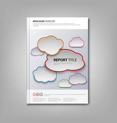 Brochures book or flyer with colored clouds vector image vector image