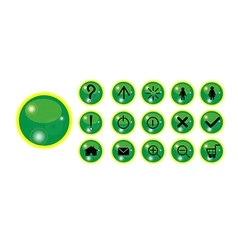 Button with shine vector image vector image