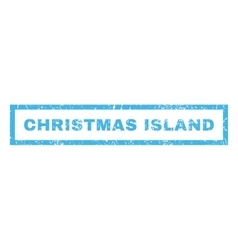 Christmas Island Rubber Stamp vector image vector image