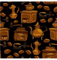 Coffee handdraw seaml 3 380 vector
