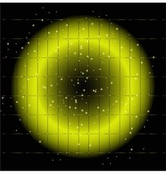 Dot light grid circle background vector