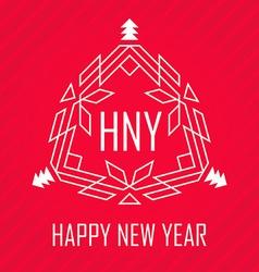 Elegant logos Decorative retro badge New year vector image vector image
