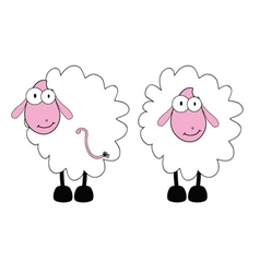 funny sheep with big eye vector image vector image