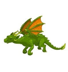 Green cartoon fantasy dragon vector image vector image