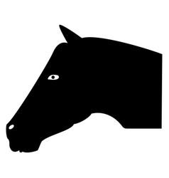 Horse head the black color icon vector