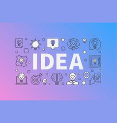 Idea creative design vector