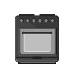 Isolated stove machine design vector