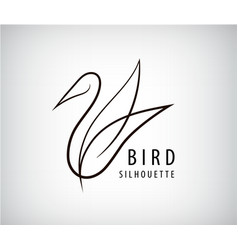 Line bird logo pigeon silhouette flying vector