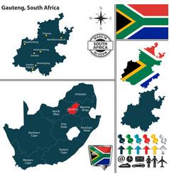Map of gauteng south africa vector