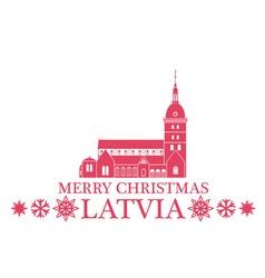 Merry christmas latvia vector
