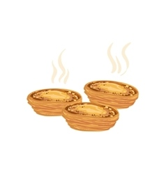 Pastel de nata egg tart portuguese famous symbol vector