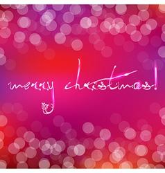 Pink Christmas Card With Bokeh vector image