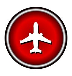 Plane red circle modern web icon vector