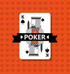 Poker king spade game banner ribbon vector