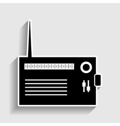 Radio sign Sticker style icon vector image vector image