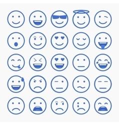 Set of Emoticons Set of Emoji Set of Avatar vector image
