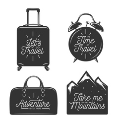 Travel typography set of design elements vector image vector image