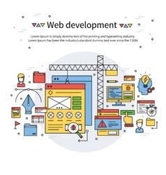 Web development line composition vector