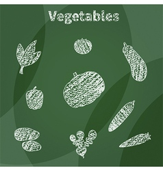 White vegetables vector image