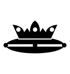Crown on a pillow icon simple style vector image