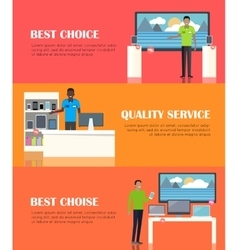 Banner of shop specialized on selling electronics vector