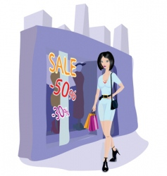 sale shopping vector image
