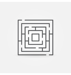 Labyrinth minimal icon vector