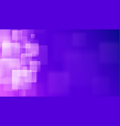 Purple abstract background of blurry squares vector