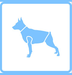 Dog cloth icon vector