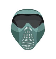Protective helmet scary sports respirator future vector