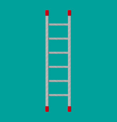 Metal ladder ector in flat style vector