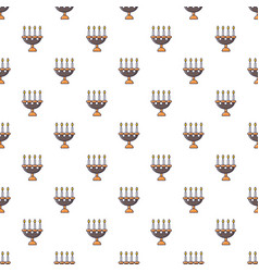 candlelight candlestick pattern seamless vector image