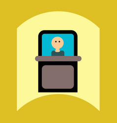 Flat icon design collection man silhouette in vector