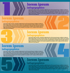 modern infographics element number template vector image