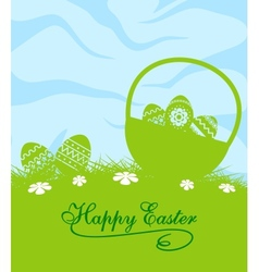 Fresh blue and green easter background vector