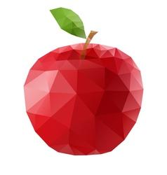 Polygonal apple vector image