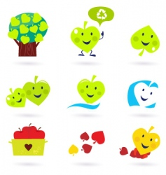 nature and recycle icons vector image