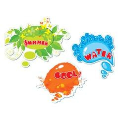 3 summer frames vector image vector image