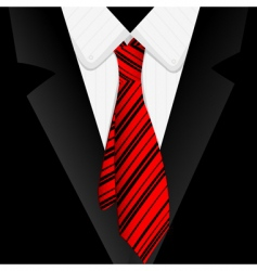 Striped tie vector