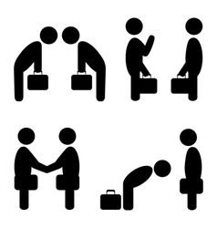 Greeting situation icons vector