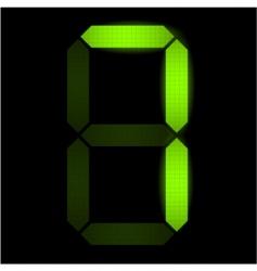 digital number seven vector image