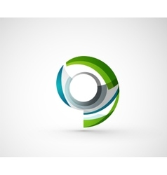 Abstract geometric company logo ring circle vector image