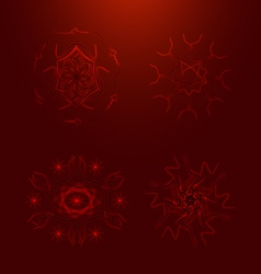 Blood elements with adaptation to background vector