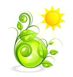 Sun and green vegetation vector
