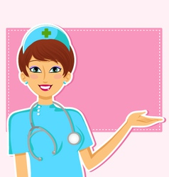 Friendly nurse vector