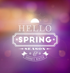 Spring vintage typographic badge on colorful vector