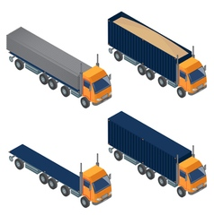 Heavy Transportation Isometric Cargo Truck vector image