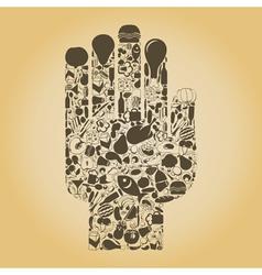 Hand food vector