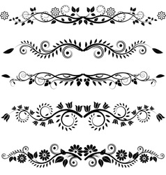 floral borders and ornaments vector image