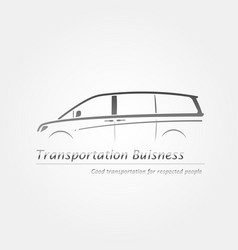 Business card with minivan vector